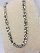 """925 sterling Silver- 17"""" Chainmaille Spiral Chain - 26.8g / #933"""