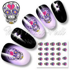 Nail Water Decals Transfers Stickers Halloween Day of the Dead Sugar Skulls K311