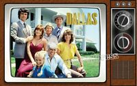 RETRO DALLAS TV SHOW MAGNET~Thin Flexible Glossy 4 X 2.5 in.