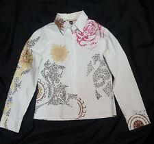 camicia shirt CLASS by roberto cavalli girl cotone cotton size 48 bianco white