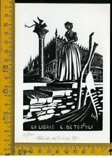 Ex Libris Originale Vianello da Venezia Livio De Toffoli b 725