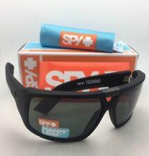New SPY OPTIC Sunglasses TOURING Soft Matte Black Frames Happy Grey-Green Lenses