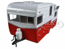 SHASTA 15' AIRFLYTE CAMPER TRAILER RED 1/24 DIECAST MODEL BY GREENLIGHT 18225