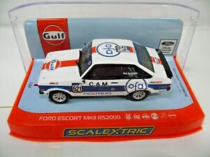 Scalextric C4150 1:32 Ford Escort MkII RS2000 Gulf Edition Slot car