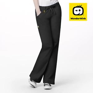 5046 Scrub Pants for Women, Elastic Waist with Cargo Pockets, suit Nurses