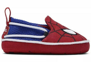 Tom's Baby Crib Spiderman Shoe Red Marvel Face Print New Lima