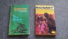 2 RARE VINTAGE GEORGES SIMENON PAPERBACKS 1960s