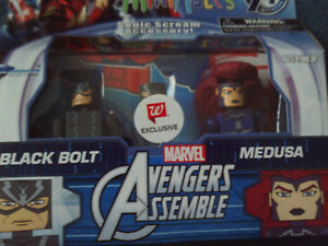Minimates Marvel Avengers Assemble Black Bolt & Medusa Figures