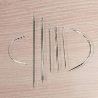 1X(7 Reparation Aiguilles a coudre Main Threader courbe Cuir Toile acier in N6C1