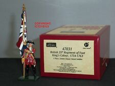 Britains 47031 Redcoats británica 35TH Regiment Reyes Color flagbearer figura