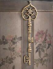 Victorian Trading Co Gilded Iron Aged Skeleton Key Door Wreath Hanger 42E