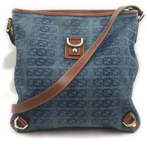 Gucci Shoulder Bag  Navy Blue Canvas 1513890