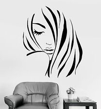 Vinyl Wall Decal Beauty Hair Salon Fashion Girl Hairdresser Stickers (1124ig)