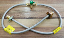 Changeover Valve  Kit  & Gas Pigtail Hose for Caravan House  SS Braided