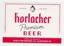 Horlacher Premium Beer Label