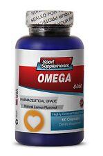 Cardio Heart Health - Fish Oil Omega-3-6-9 3000mg - Alpha-linoleic Acid ALA 1B