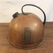 Antique Distressed Art Deco Copper Tea Pot Teapot Kettle Boiler USA
