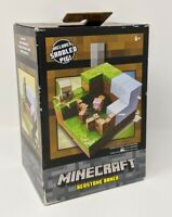 Minecraft Plains biome Collection Saddled Pig Playset  Set 1 of 4