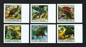 Sao Tome & Principe 2003 Sc#1511a-f  Dinosaurs/Scouting Emblem/Minerals  MNH $9