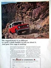 """1964 International Scout  Rugged Scout Is So Different Original Print Ad 9 x 11"""""""