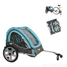 Bicycle Trailers Stroller Carrier Child Baby Pet Dog Cargo Seat Canopy Screen