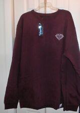 NWT Diamond Supply Co Mens Maroon Crewneck Sweatshirt Size XXL