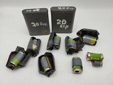 Lot of 8 Vintage Kodak 35mm Super-XX 135 Film Canisters 20 & 36 Exposures Ansco
