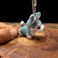 Siberian Husky Crochet Dog Amigurumi Keyring Handmade Miniature Animal Cute Doll