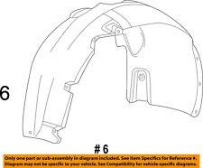 Dodge CHRYSLER OEM 13-16 Dart-Front Fender Liner Splash Shield Right 68082834AE