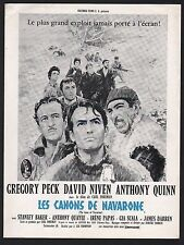 THE GUNS OF NAVARONE RARE ORIG 1961 FRENCH PRESSBOOK GREGORY PECK ANTHONY QUINN