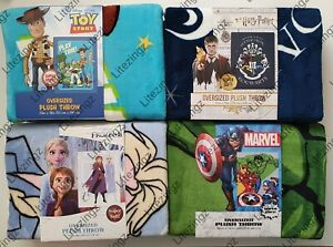 Large Throw 150x198 Super Soft Blanket Toy Story, Frozen, Avengers, Harry Potter