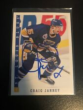 1993 Score #186 Craig Janney TTM Autograph - Blues