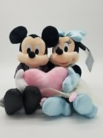 Disney Parks Mickey and Minnie Mouse Wedding Love Plush Doll Set of 2