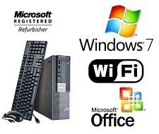 Dell 960 Core 2 Duo 3.0GHz 8GB 1TB WiFi Desktop PC Windows 7 Dual VGA Video Card