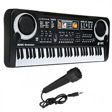 Piano Electronic Keyboard Digital Music Instrument 61 Keys Portable Stage Used