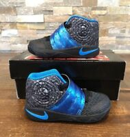 Nike Kyrie 2 Toddler Shoes Black/Blue Glow/Anthracite 827281-005