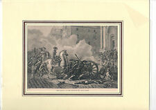 Druck Buchseite Defeat of the Sections by Bonaparte France Militaire (Ra36)