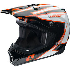 NEW ONE INDUSTRIES GAMMA CRYPTO MX ATV BMX  PREMIUM HELMET ADULT XSMALL BLACK/OR