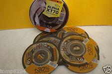 10 X RHODIUS ALPHA XT70 115MM X 1MM ANGLE GRINDER METAL CUTTING DISCS