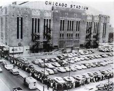 CHICAGO STADIUM BULLS BLACKHAWKS 16X20 BW PHOTO
