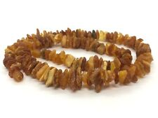 Natural Baltic Amber Raw Healing Untreated Unpolished Rough Necklace 19 g #2673