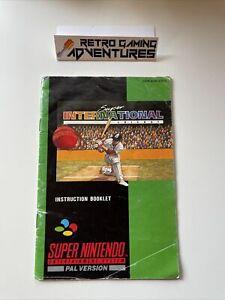 MANUAL ONLY - Super International Cricket - SNES Super Nintendo - PAL AUS
