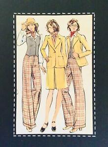 Vintage 70's STYLISH WAISTCOAT, BLAZER, SKIRT, PANTS  Sewing Pattern SIZE 16