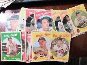 lot 43 different 1959 topps baseball card off grade cards