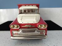 Antique Pressed Tin Metal /Steel Toy Dump Truck Dry Battery Buttery Vintage Kids