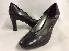 Anne Klein Women's Classics Pumps Slip On Round Toe Shoes,Black,Size 9 M,Bridal