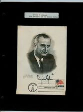 Johnson 1965, Nixon 1969 and Nixon 1973 Inauguration Art Craft Maximum Cards (3)