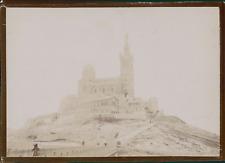 France, Marseille, Notre-Dame de la Garde, ca.1900, Vintage citrate print Vintag