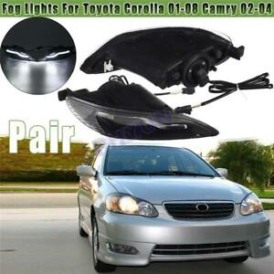 Pair Front LED Fog Lights Lamps For Toyota Corolla 2001-08 Camry 02-04 Car Light
