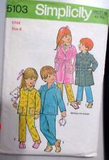 Simplicity sewing pattern no.5103 Children's nightwear size 4 vintage